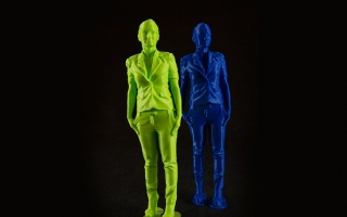 Postać kobiety wydruk ze skanu 3D