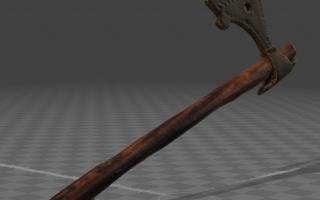 Skan 3D - średniowieczny toporek