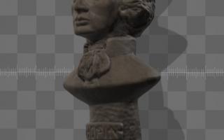 Skan 3D - figurka Chopina