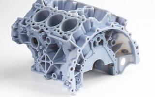 Prototyp silnika. Volkswagen.
